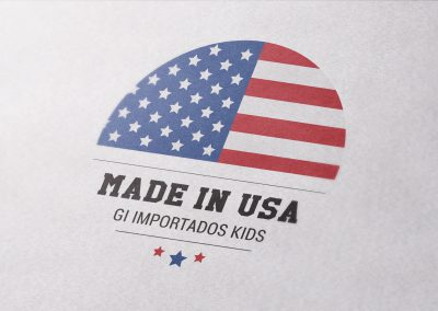 Logo: Made in USA - Gi Importados Kids